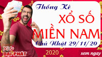 Thống Kê Xổ Số Miền Nam 29/11/2020 - Thống Kê XSMN Chủ Nhật 29/11/2020