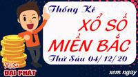 Thống Kê XSMB Hôm Nay 04/12/2020 - Thống Kê Xổ Số Miền Bắc Đại Phát Thứ 6