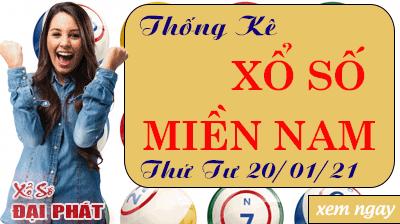 Thống Kê Xổ Số Miền Nam 20/01/2021 - Thống Kê XSMN Thứ 4 Ngày 20/01/2021