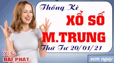 Thống Kê Xổ Số Miền Trung 20/01/2021 - Thống Kê XSMT Thứ 4 Ngày 20/01/2021