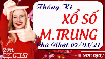 Thống Kê Xổ Số Miền Trung 07/03/2021 - Thống Kê XSMT Chủ Nhật 07/03/2021