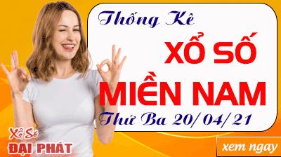 Thống Kê Xổ Số Miền Nam 20/04/2021 - Thống Kê XSMN Thứ 3 Ngày 20/04/2021